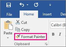 A screenshot of the Format Painter icon on the Microsoft Office Ribbon