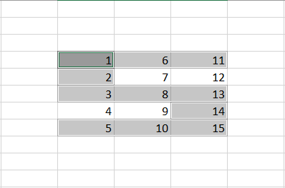 Extended Selection in Excel