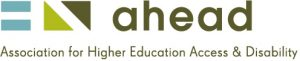 AHEAD Logo: Association for Higher Education Access and Disability