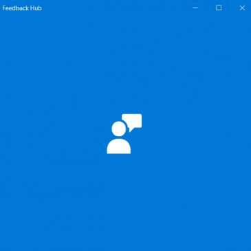 A screenshot of the Windows Keedback Hub Logo