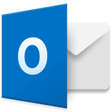 The Outlook Logo: a white letter O on a blue square with a white envelope behind it