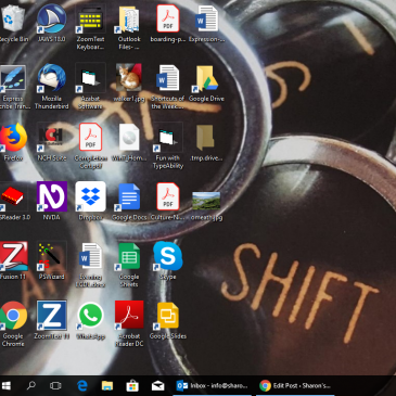 A screenshot of the Sharon's Shortcuts Desktop