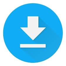 The download icon in Chrome: An arrow pointing down to a horizontal line