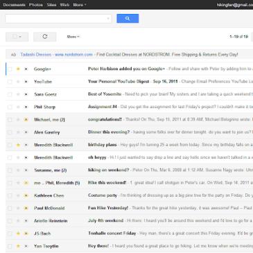 A screenshot of a typical Gmail screen