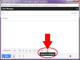 a screenshot of the toolbar when composing a gmail message with the remove formatting button highlighted