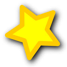 A yellow five pointed star